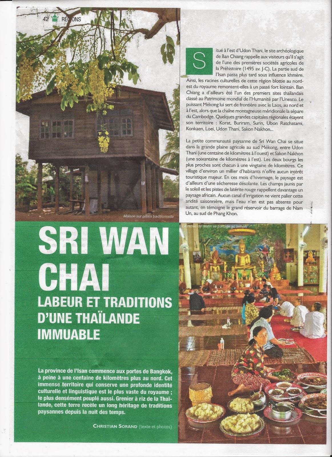 Maison Du Nord Magazine chrismate: sri wan chai: labeur et traditions d'une