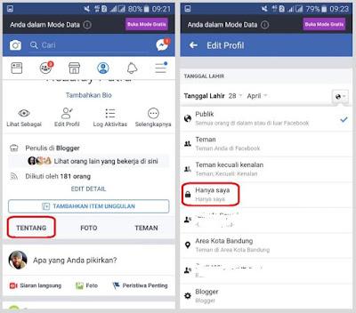 Cara Menyembunyikan Peringatan Ulang Tahun di Facebook Tutorial Menyembunyikan Tanggal Lahir di Facebook