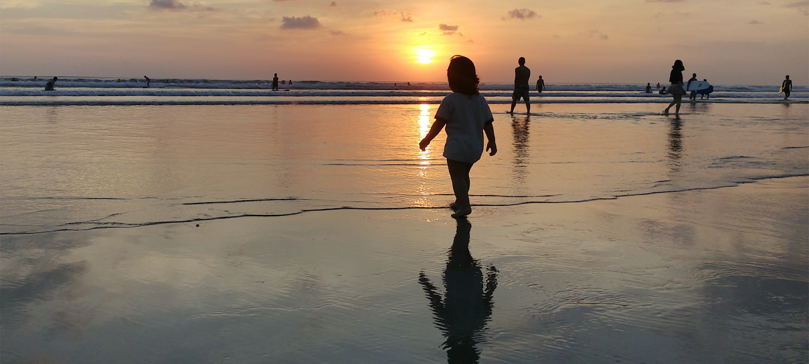 beautyful sunset in kuta Bali