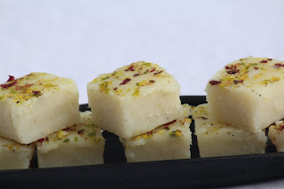 FRESH COCONUT BURFI / FRESH COCONUT FUDGE