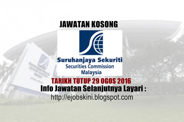 Jawatan kosong di suruhanjaya sekuriti ogos 2016