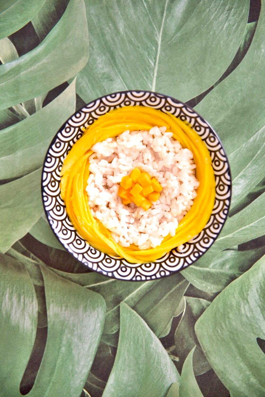 mango sticki rice recipe, mango sticki rice przepis, Tajlandia co jeść, Mango Sticky Rice, jak zrobić Mango Sticky Rice, Mango Sticky Rice deser, kuchnia, deser bezglutenowy, deser wegetariański, Tajlandia, Podróże,