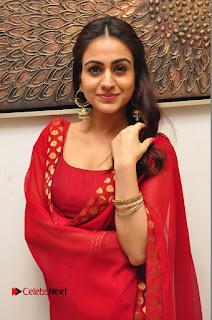 Actress Aksha Pictures in Red Salwar Kameez At Kalamandir 6th Anniversary Celebrations  0067.JPG