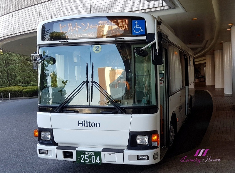 disney hotels hilton tokyo bay complimentary shuttle bus