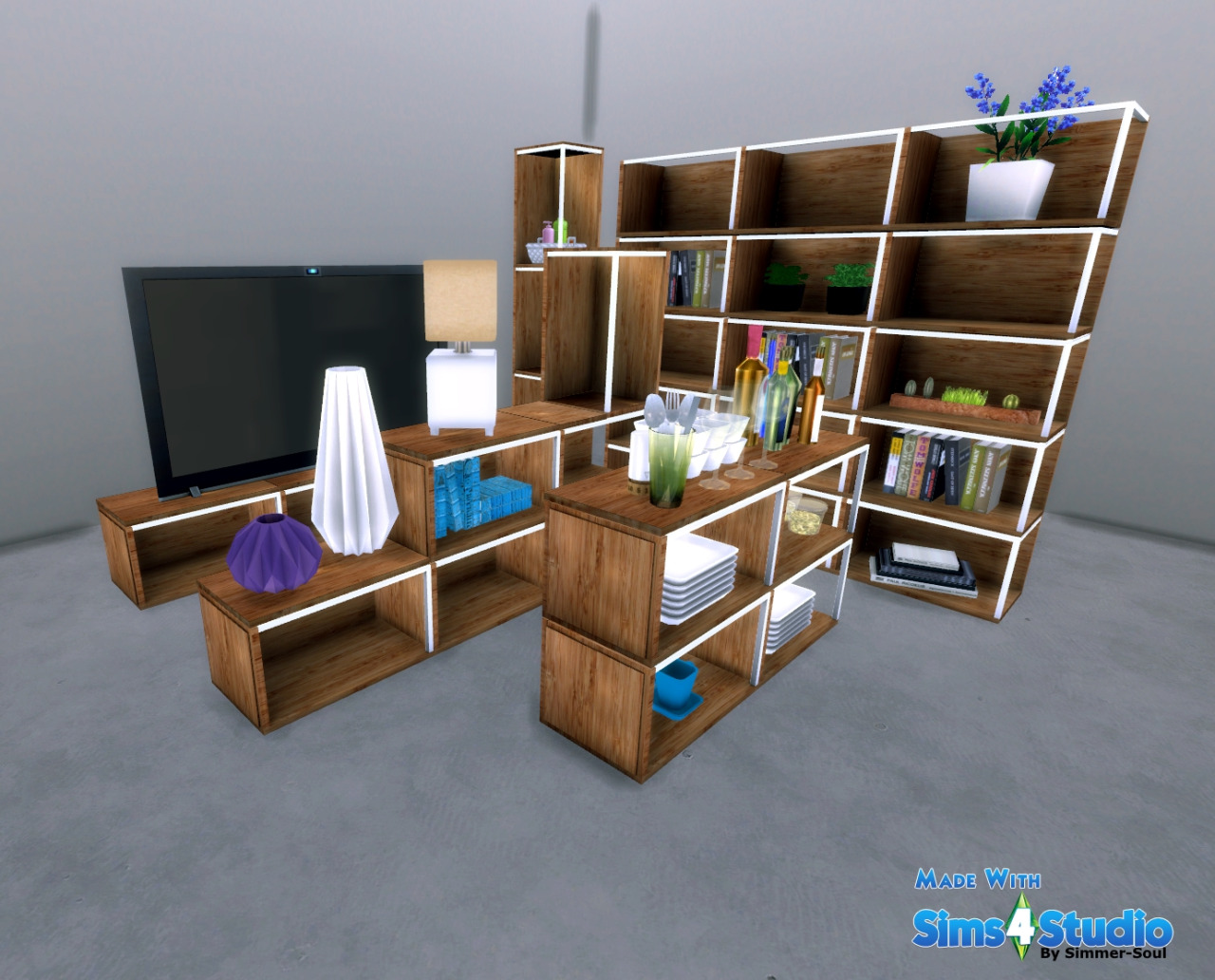my sims 4 blog ikea ps 2014 storage module by simmersoul. Black Bedroom Furniture Sets. Home Design Ideas