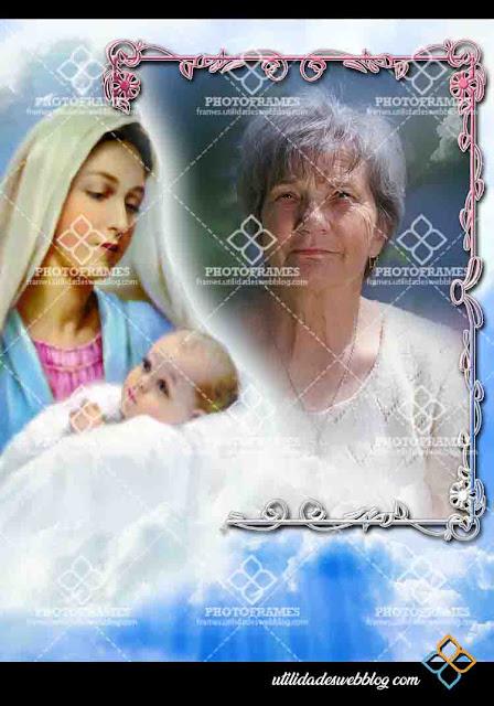 Marco para fotos del dia de la madre con la Virgen María
