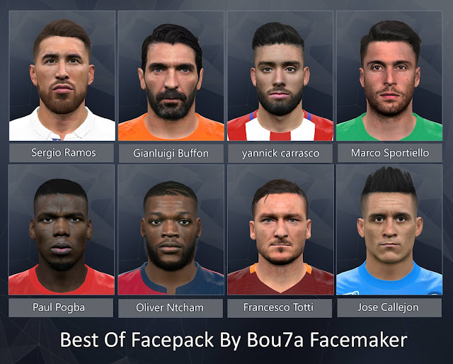 Best Of Facepack By Bou7a Facemaker PES 2017