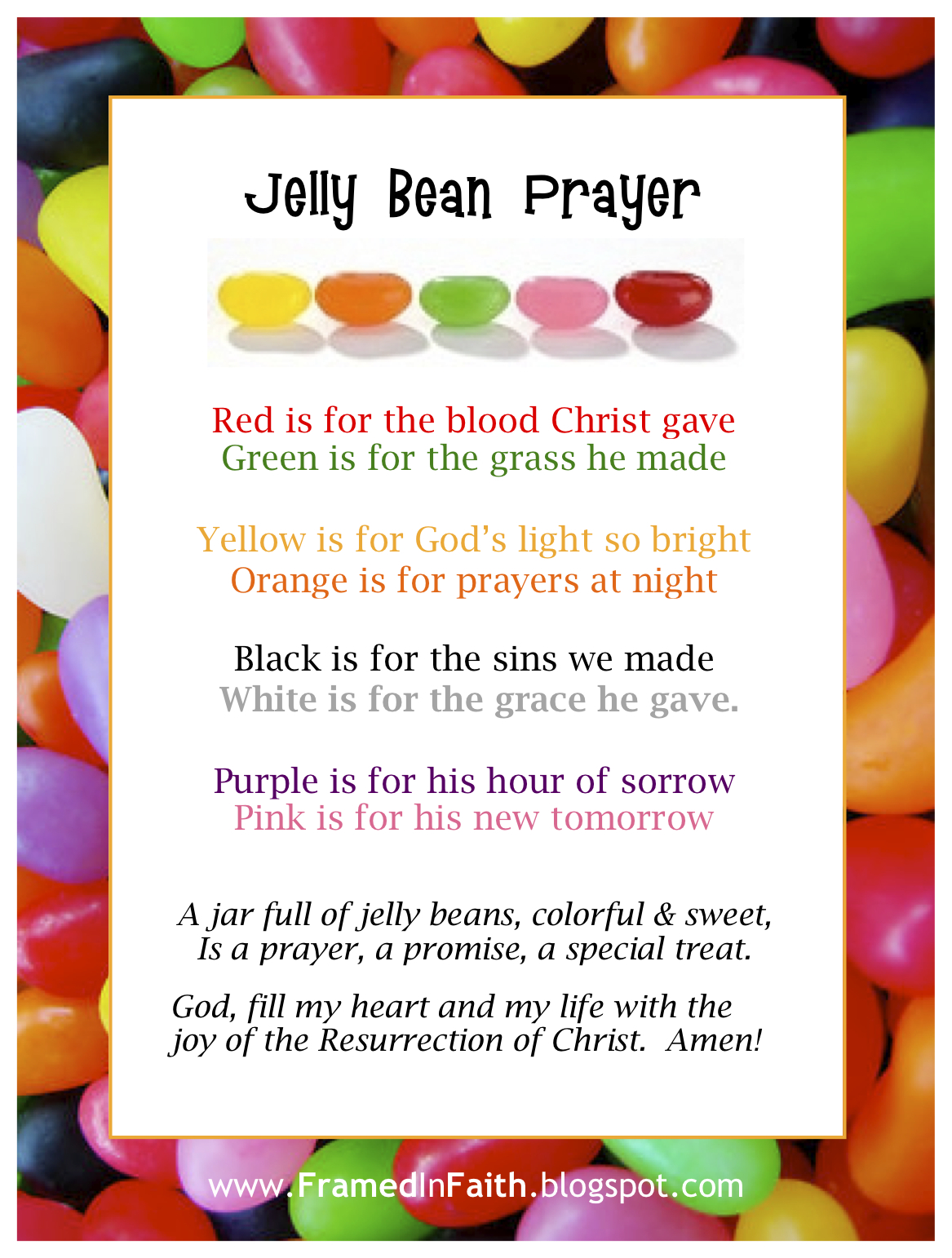 Framed In Faith Jelly Beans Amp Jesus