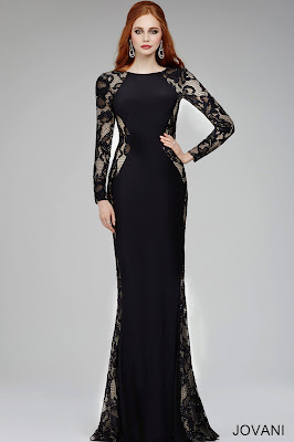 Black cocktail dresses with long sleeves