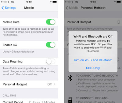 How to create an iPhone Wifi Hotspot