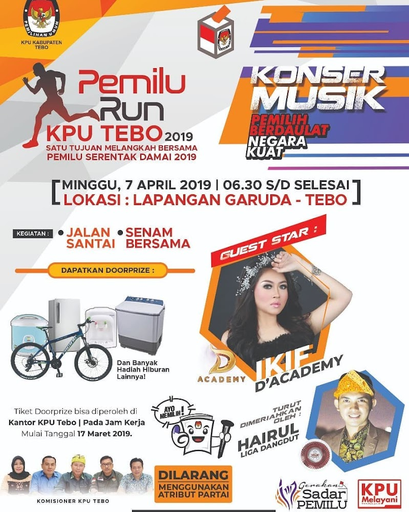 Pemilu Run - KPU Tebo • 2019