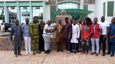 Mr Ibu Leads Entertainment Team On A Courtesy Visit To Governor Ortom In Benue. Photos