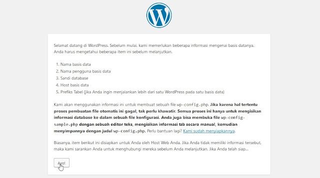 Menginstal Wordpress