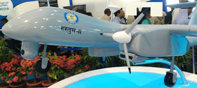Rustom-2, the unmanned aerial vehicle developed by the Aeronautical Development Establishment (ADE)