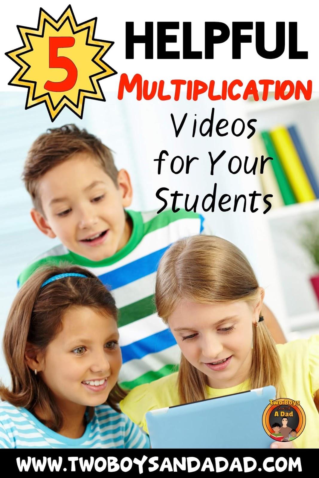 Multiplication videos for fact fluency