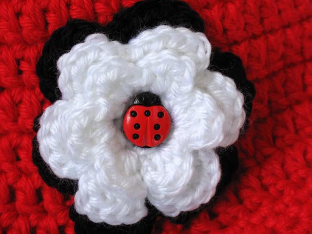 Crochet Ladybug Newsboy Cap