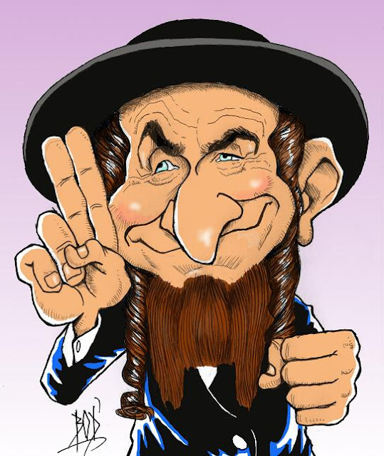 Les caricatures de bod 39 louis de funes les aventures de for Dans rabbi jacob