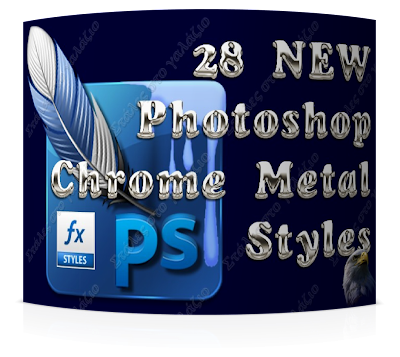 28 NEW Adobe Photoshop Chrome Metal Styles, Photoshop Stuff, Photoshop Styles
