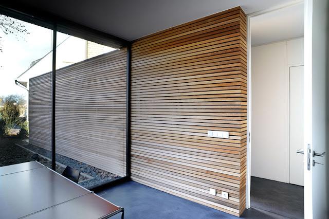 Revestimientos de madera en exterior espacios en madera - Forrar pared de madera ...