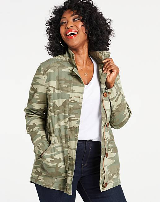 jd williams camo stretch cotton utility jacket