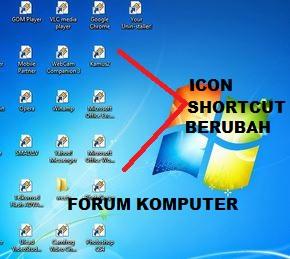 Cara Mudah Memperbaiki Icon, Shortcut Windows Yang Berubah semua