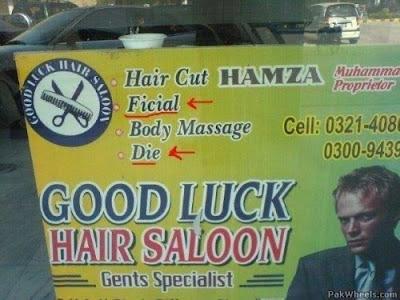 Friseur Werbung lustige Bilder