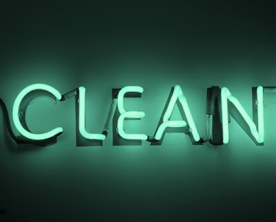 neon clean sign