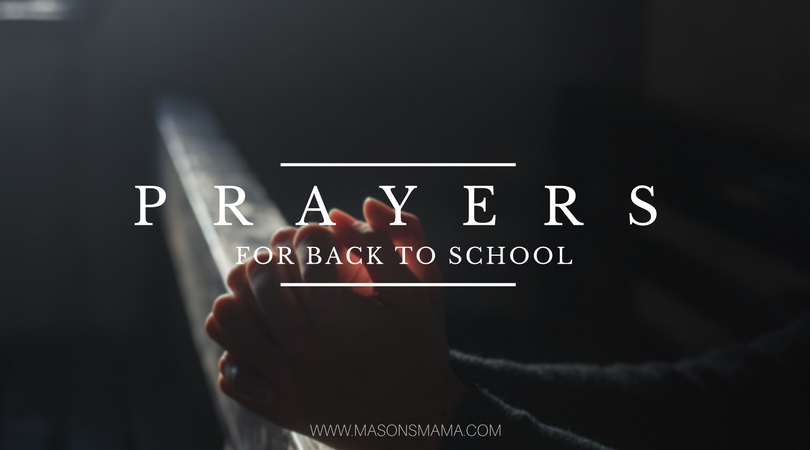 Prayers for Back to School - Hall Around Texas
