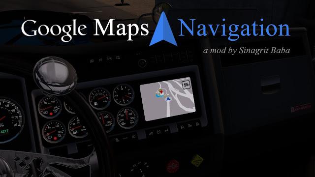 sinagrit baba ats mods, ats google maps navigation