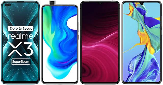 Realme X3 Super Zoom vs Xiaomi Poco F2 Pro vs Realme X2 Pro vs Huawei P30