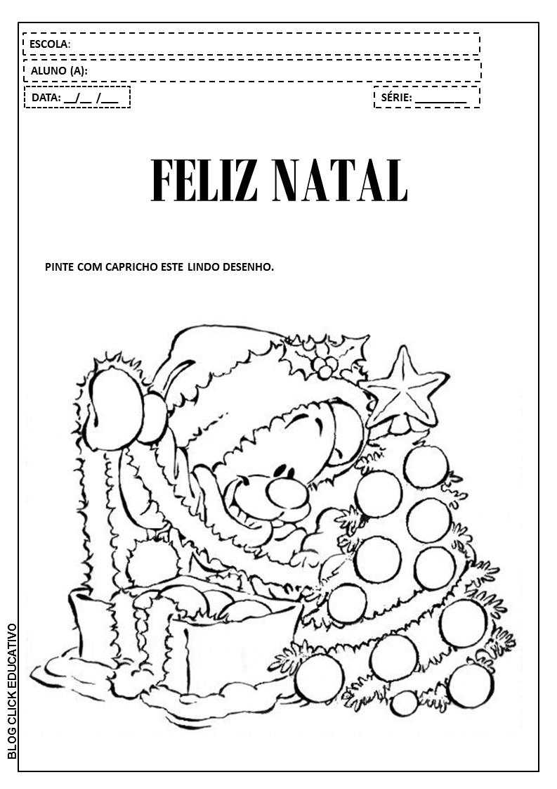 Atividades De Natal Para Educacao Infantil Desenhos Para Imprimir