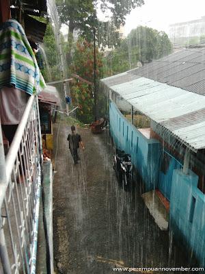 hujan sore kemarin
