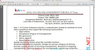 BCSL-034 Solved Assignment For IGNOU BCA