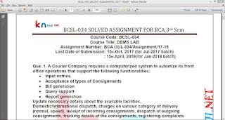 BCSL-034 Solved Assignment For IGNOU BCA