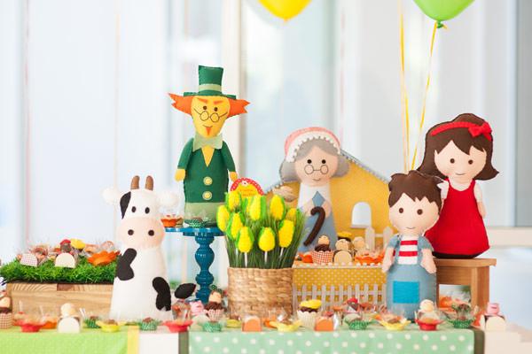 Tema para festa de aniversário: Sítio do Picapau Amarelo