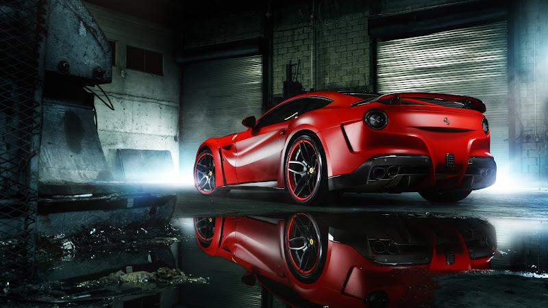 HOT Ferrari F12 rear view HD