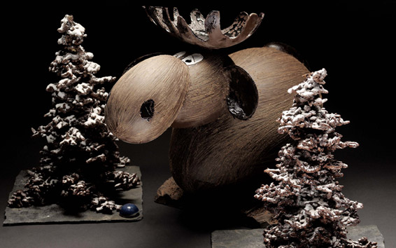 nos petits freres les animaux sculptures de patrick roger en chocolat. Black Bedroom Furniture Sets. Home Design Ideas