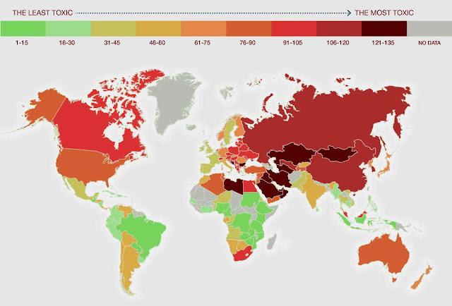 Daftar negara dengan polusi udara tertinggi di dunia