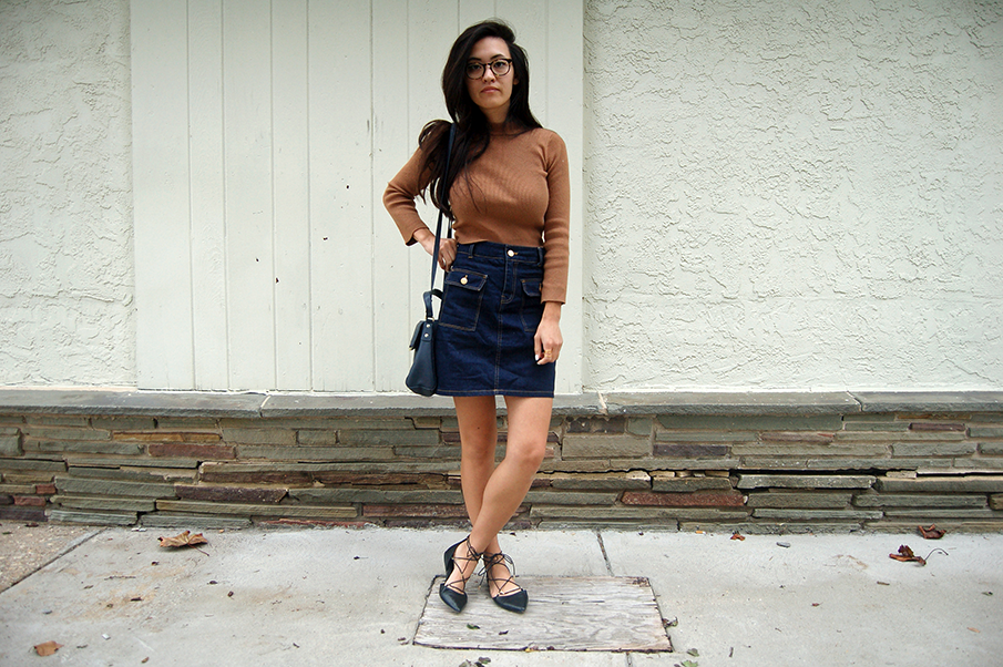 Cropped Sweater A-line Skirt