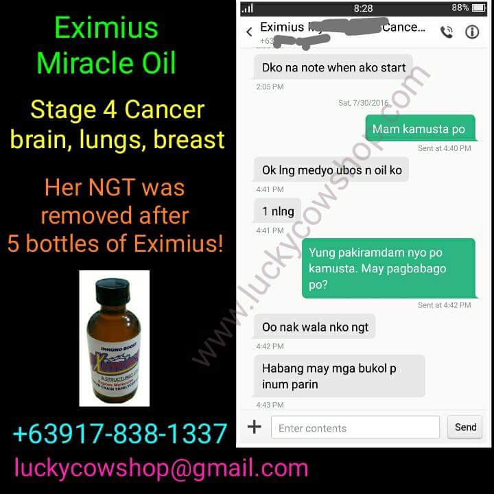eximius testimonial cancer stage 4