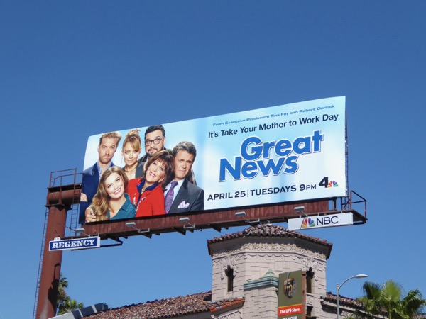 Great News series premiere billboard