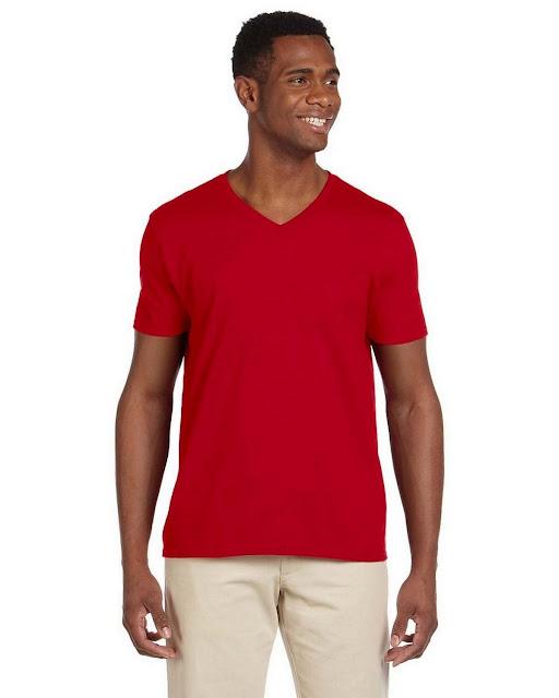 Gildan G64V SoftStyle V Neck T Shirt (13 Colors)