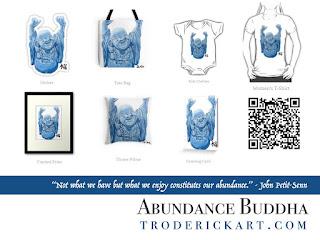 Abundance Buddha by Boulder artist Tom Roderick