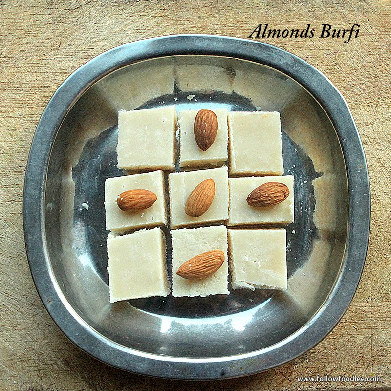 BADAM BURFI RECIPE | HOW TO MAKE ALMONDS BURFI