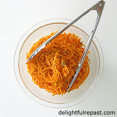 Grated Carrot Salad - Salade de Carottes Rapees - French Bistro Classic My Way / www.delightfulrepast.com