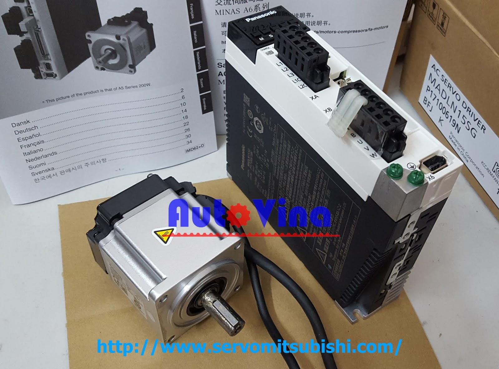 Đại lý bán Driver Servo Panasonic MADLN15SG và Servo motor MHMF022L1U2M công suất 200W