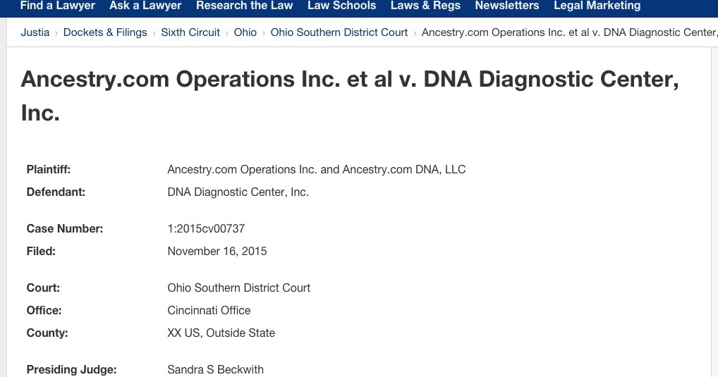 Your Genetic Genealogist Ancestry Com Files A Trademark