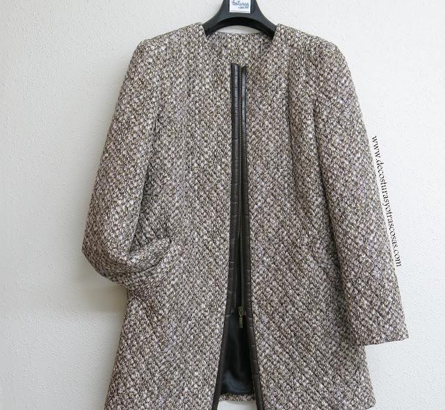 tutorial paso a paso abrigo sin cuello