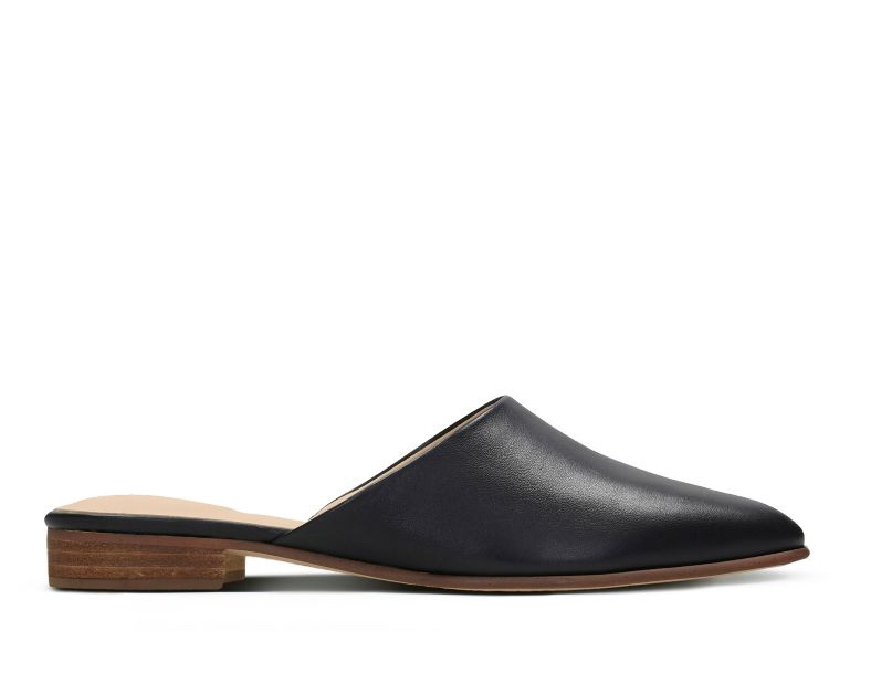 Clarks Pure Blush Black Leather