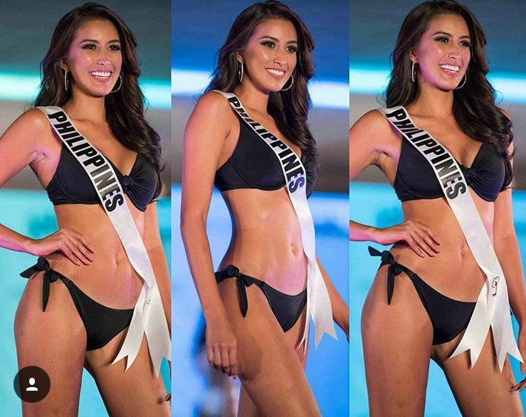 Rachel Peters Wearing a classic black swimwear by Yamamay
